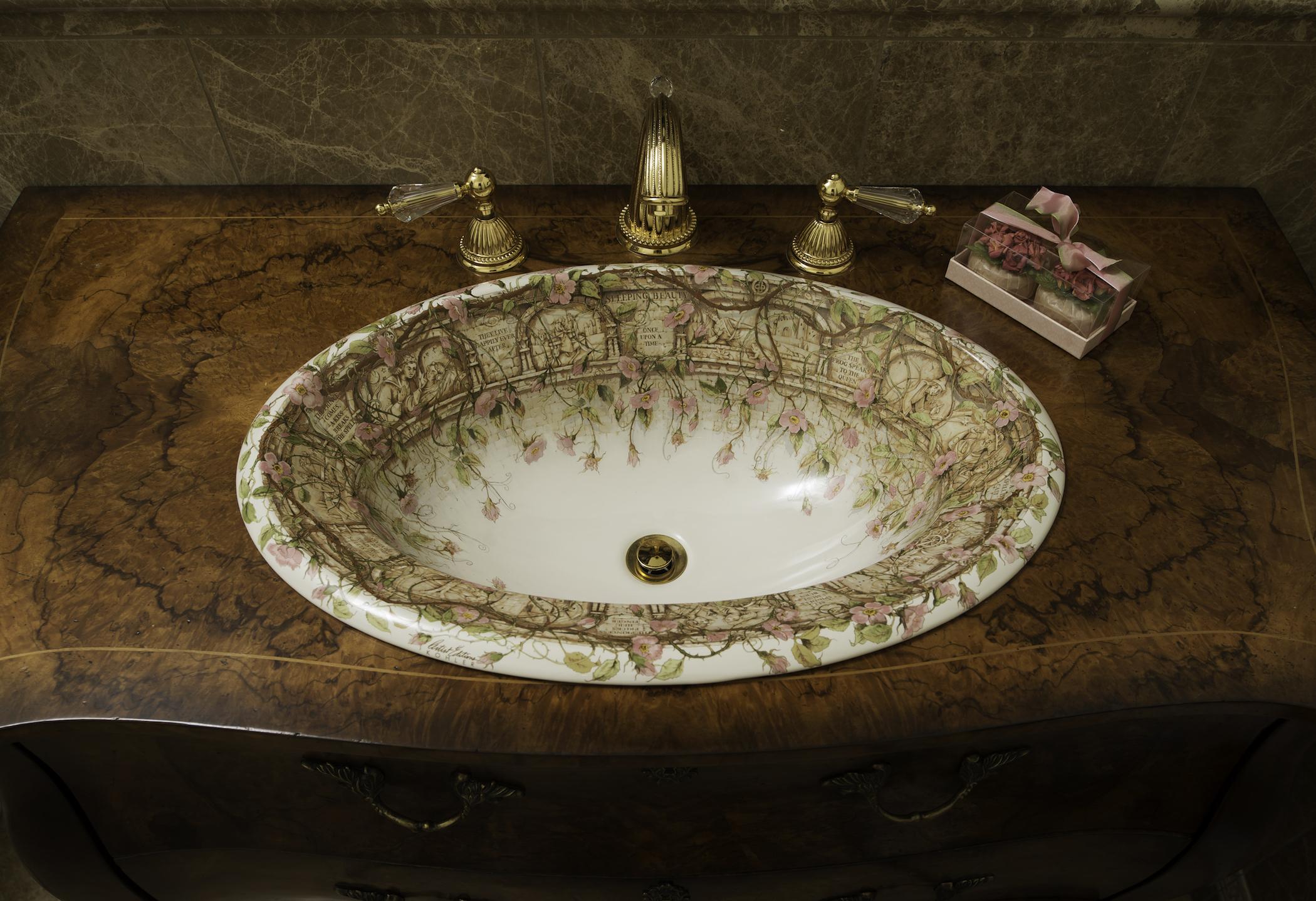 Rose Sink Bowl